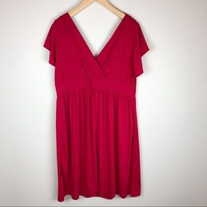 NWT Lane Bryant Red Holiday Dress Size 18/20